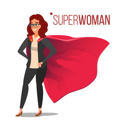 superhero businesswoman and businessman character vector image