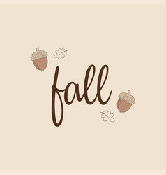 trendy autumn background vector image