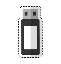 Usb memory flash icon vector