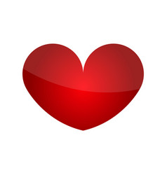 valentines day heart icon vector image
