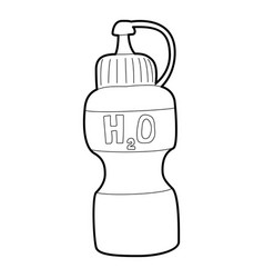 Water bottle icon outline style vector