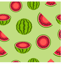 Watermelon seamless pattern background vector