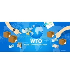 WTO World Trade Organization vector