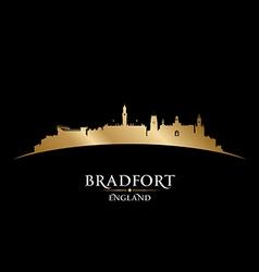 Bradfort england city skyline silhouette vector