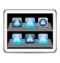Exclamation sign blue app icons vector image vector image