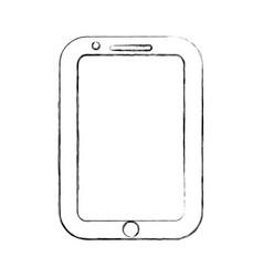 figure nice smartphone symbol icon design vector image vector image