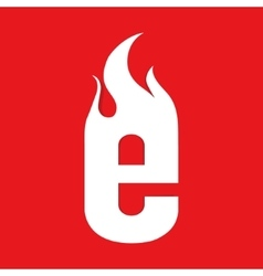 Fire E letter design vector image