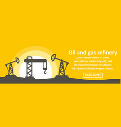 oil and gas refinery banner horizontal concept vector image vector image