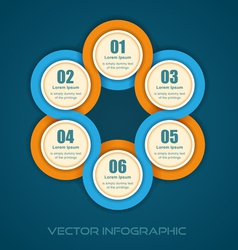 Round numbered banner vector image
