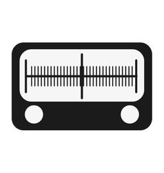 single radio icon vector image