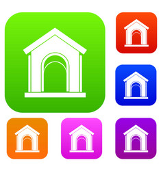 toy house set collection vector image vector image
