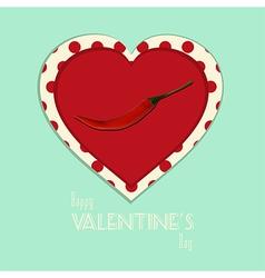 Valentine vintage spicy heart background vector image vector image