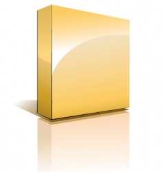 3d box with shadow vector image