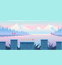 cartoon nature landscape seamless background for vector image vector image
