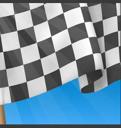 Checkered Flag Background Card Template vector image