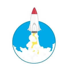 launch a space rocket vector image