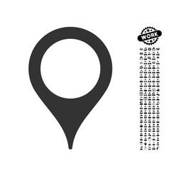 Map marker icon with work bonus vector