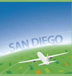 san diego flight destination vector image