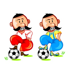 soccer ukrainian player vector image vector image