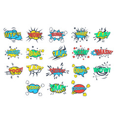 comic bubbles with words and abbreviations sett vector image vector image