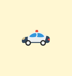 flat icon cop car element of vector image vector image