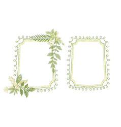 green floral scrabble leaves frame vector image vector image