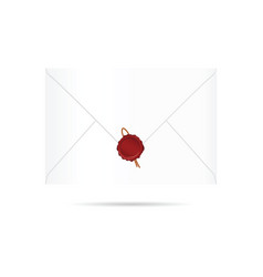 letter envelope with red seal wax vector image vector image