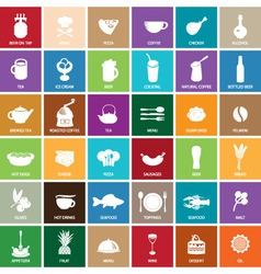 sign food set vector image vector image