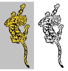 Tribal predatory tiger tatoo vector