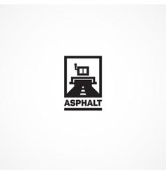 Asphalt roller vector