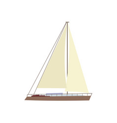 flat style sailing ship boat sailboat icon vector image