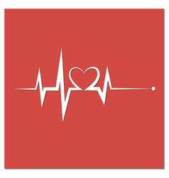 heartbeat line heart cardio vector image