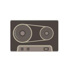 tape cassette vintage icon retro audio art icon vector image