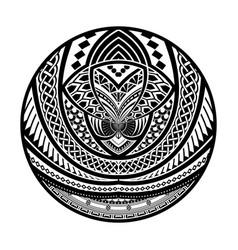Abstract polynesian tattoo circle design vector