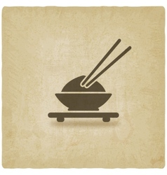Asian food old background vector image