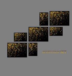 banners and cards gold sparkles on black vector image