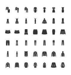 Black clothes icons part 2 vector