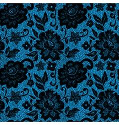 BlackLaceFlowerOnBlue vector image
