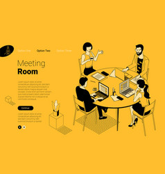 business communication in modern office vector image