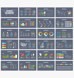 Business dark presentation template vector