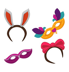 carnival masquerade or halloween party costume vector image