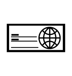 check bank isolated icon vector image