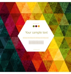 Colorful abstract geometric background vector image