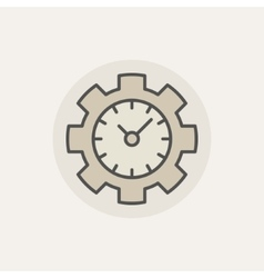Colorful time management icon vector image