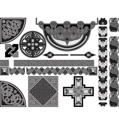 design in celtic style vector image