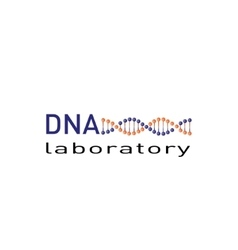 DNA laboratory logo vector image