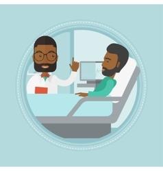 Doctor visiting patient vector
