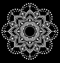 Dot art ethnic mandala aboriginal design vector