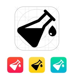Drop from flask icon vector