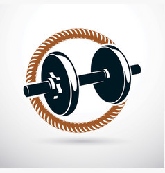 Dumbbell with disc weight cross fit and vector